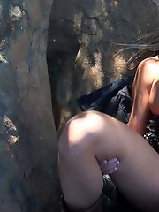 Blonde Slut Outdoor Screwing
