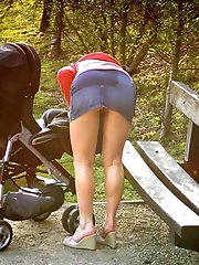Shaved Wife With Firm Breasts Naked Outdoors