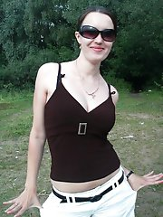 Big Natural Breasts Wife Flashes Her Melons Outdoors
